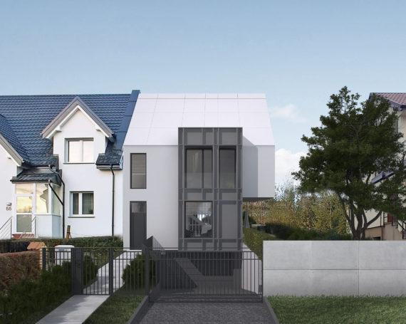Dom jednorodzinny w zabudowie bliźniaczej w Gdyni