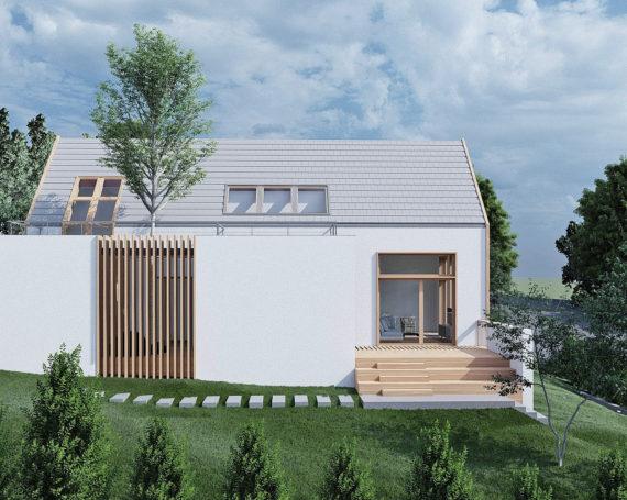 Dom jednorodzinny w Leźnie